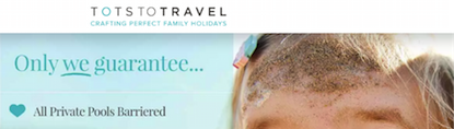 Tots to Travel website