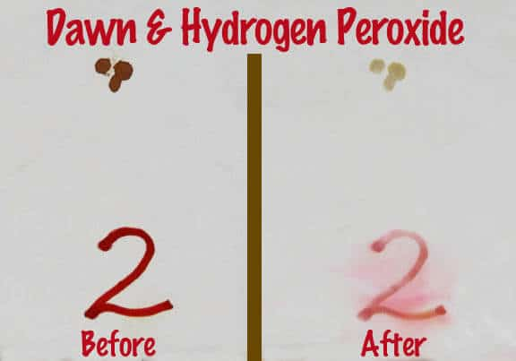 Dawn & Hydrogen Peroxide Blood Removal Test
