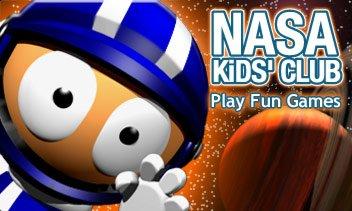 NASA Kids Club Logo for educational websites