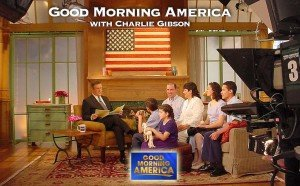 Economides family on the set of Good Morning America