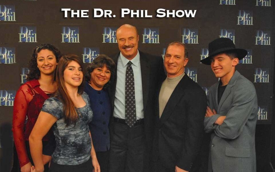 Economides family with Dr. Phil after the show