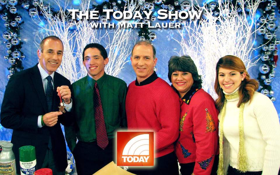 Steve & Annette Economides, America's Cheapest Family with Matt Lauer on the Today Show celebrating a frugal Christmas.