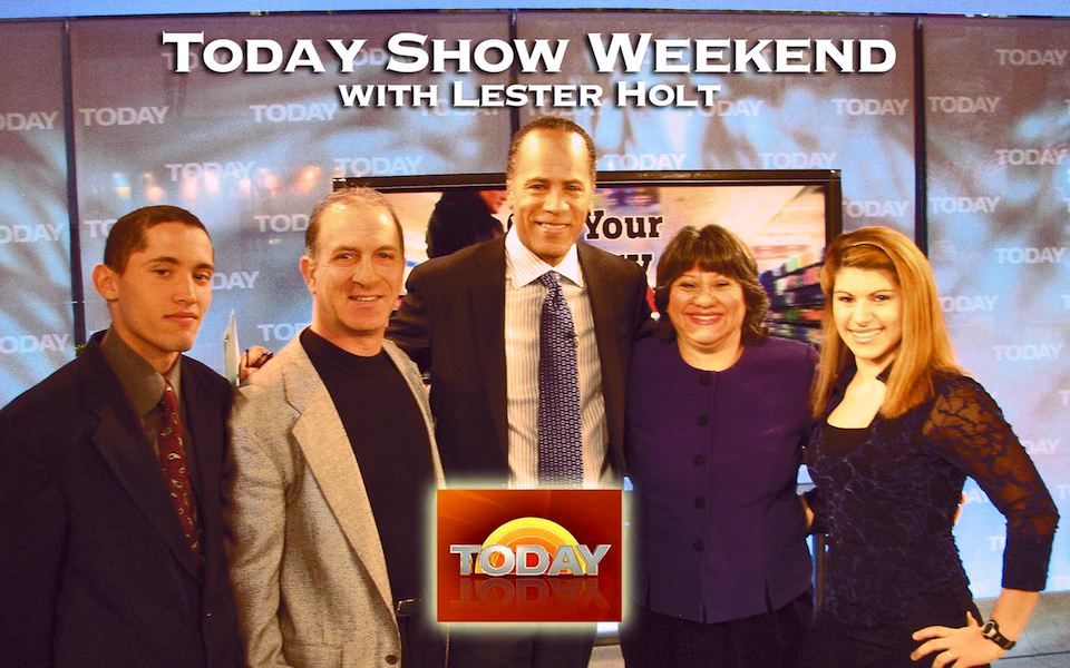 Steve & Annette Economides, America's Cheapest Family, with Today Show host Lester Holt