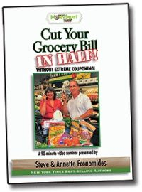Cut your Grocery Bill in Half DVD Seminar - 90 minutes of fun education.