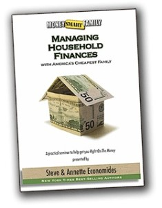 Managing Household Budget Seminar Cd and instant download from Economides. CD teachs how to budget.