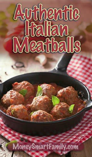 A Delicious, Homemade, Authentic Italian Meatball Recipe! #Meatballs #GroundBeefMeatballs #TraditionalMeatballs #AuthenticMeatballs