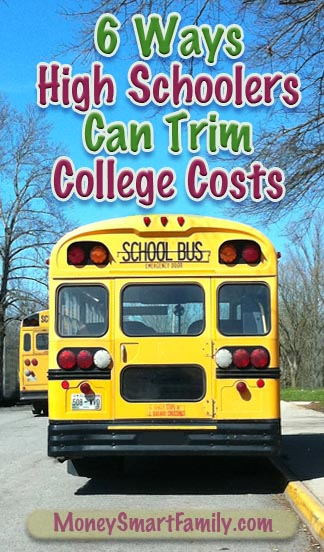 6 Things High School students can do that will crush the cost of college., and hopefully minimize the need for student loans.