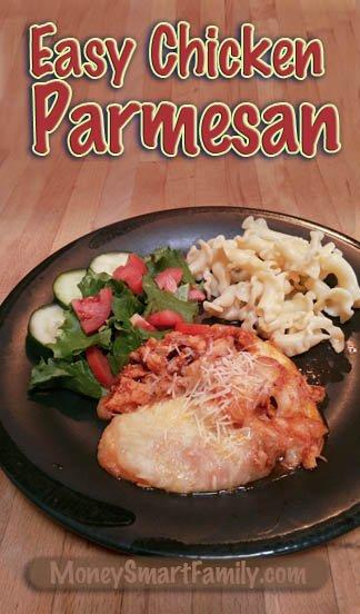 An Easy Chicken Parmesan Recipe, precut for little ones and elderly. #ChickenParmesan #PreCutChickenParmesan #ItalianChickenParmesan #TurkeyParmesan