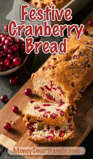 An Amazing Cranberry/ Orange quick bread recipe bursting with flavor. #CranberryBread #CranberryOrangeBread #BreadForFall