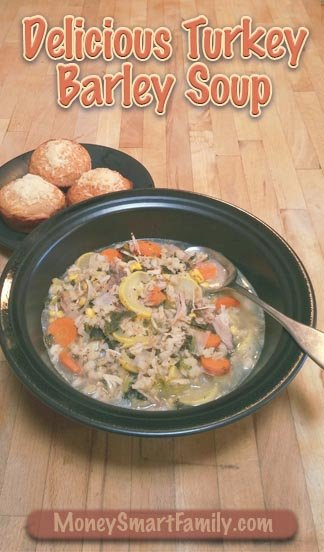 A Delicious Turkey or Chicken Barley Soup Recipe. Perfect for the cold months of the year. #ChickenBarleySoup #TurkeyBarleySoup