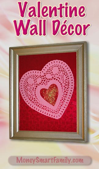 A Simple Valentine Wall Decor Craft made with just 6 Components!