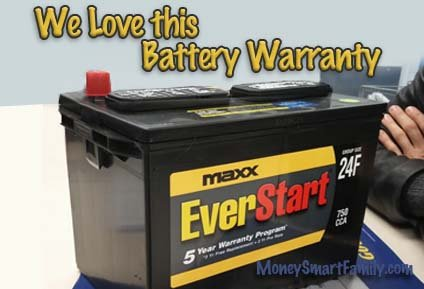 Walmart Everstart Maxx car battery with a great warranty