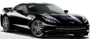 Black Corvette stingray by Chevrolet.