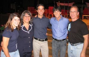 Abbey, Annette and Steve Economides with Alex and Bret Harris.