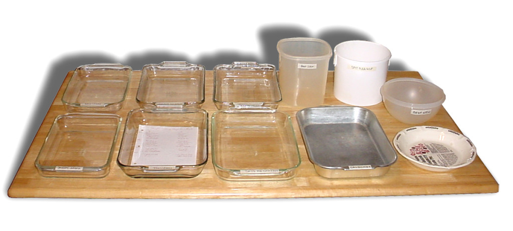 Once a month cooking containers