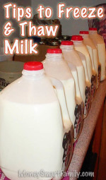 Tips for freezing milk and thawing milk.