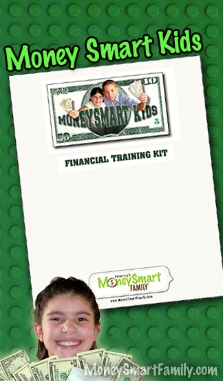 The Money Smart Kids Financial Training Kit is a great way for kids to learn to work, earn, save and spend their own money and to become financially independent.