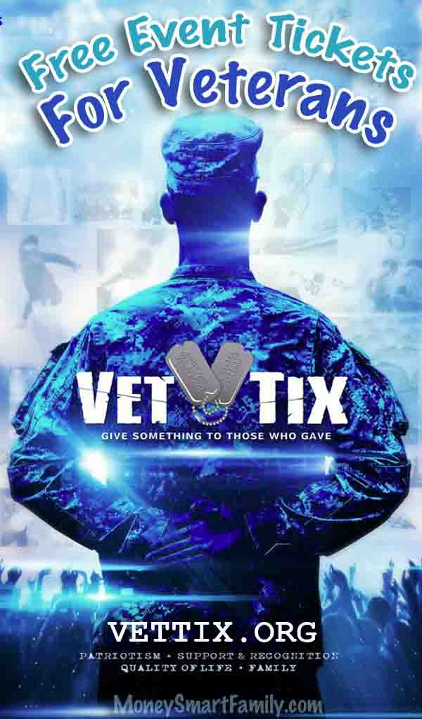 VetTix Poster with Soldier standing at-ease.
