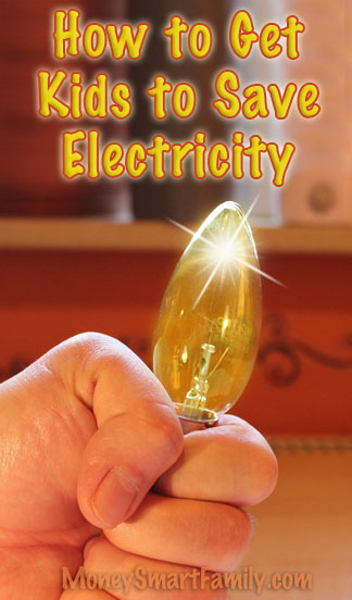 In your home - kids save electricity!