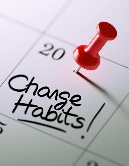 change habits written on a calendar.