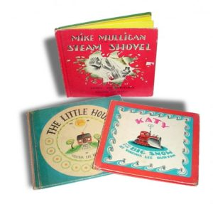 Mike Mulligan, Katie and the big snow and the little house kids classic books.
