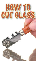 How to Cut Glass at Home by Yourself. A Great Cutting Glass Project.