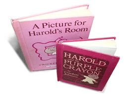 Harold and the purple crayon and a picture for harold's room - picture books.