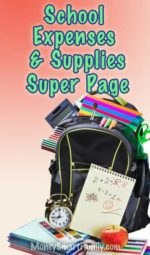 How to Save on School Expenses and Supplies Super Page.