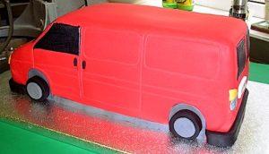 A Pink van cake.