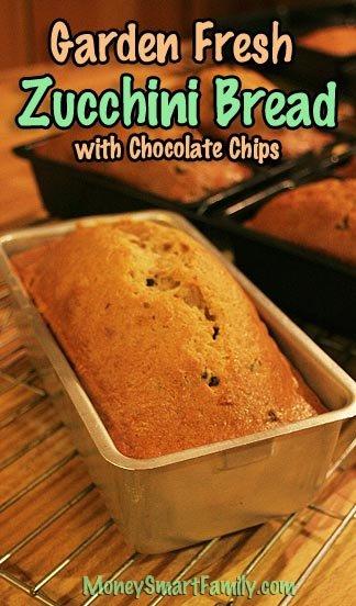 Garden Fresh Zucchini Bread Recipe/ Zucchini Muffins Recipes/ Zucchini Recipes #ZucchiniBread #ChocolateChipZucchiniBread #ZucchiniMuffins #ZucchiniRecipes