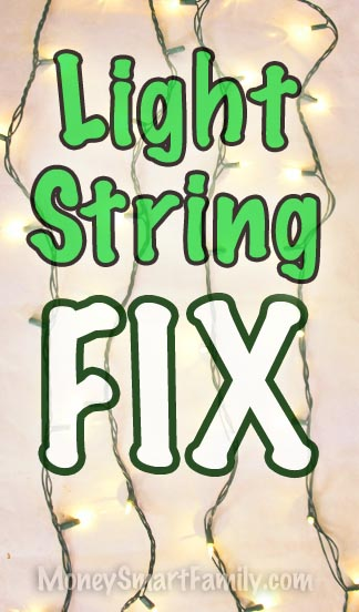 How to fix your strings of lights. Christmas Light String Fix.