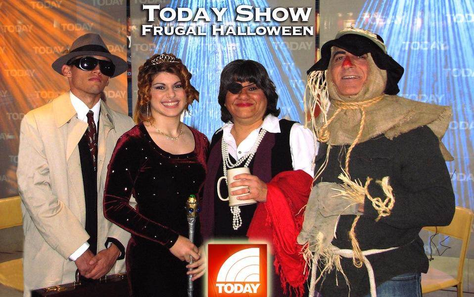Steve & Annette Economides in Halloween costumes for the Today Show.