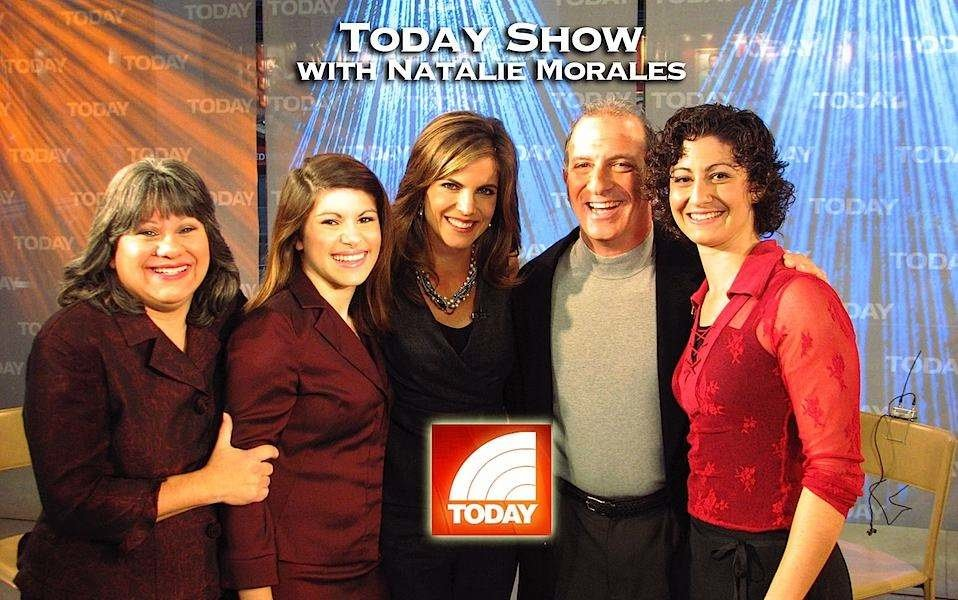 Today Show host Natalie Morales with Steve & Annette Economides and daughters Becky and Abbey.