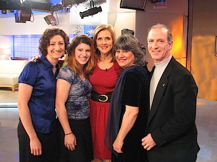 Steve & Annette Economides with Meredith Viera on the Today Show Set.