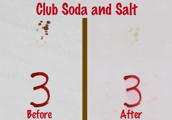 Club Soda & Salt Blood Spot Removal Test