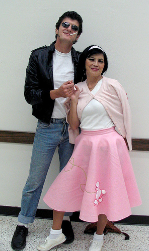 50s costumes - Poodle Skirt and Greaser