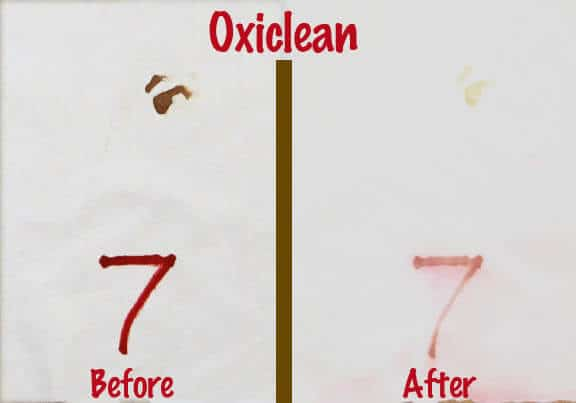 Oxiclean Blood Spot Removal Test