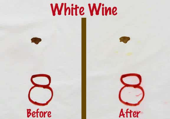 White Wine Blood Stain Removal Test
