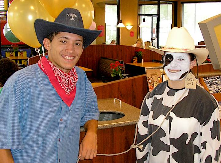 Abbey Joe chick fil a rancher cow