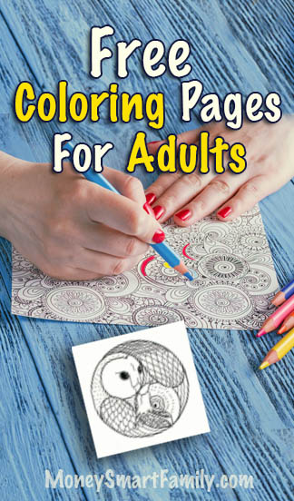 Free coloring book pages for adults.