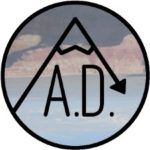 All Downhill Podcast Free Logo Sticker