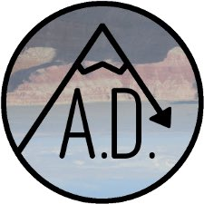 All Downhill Podcast Free Logo Sticker