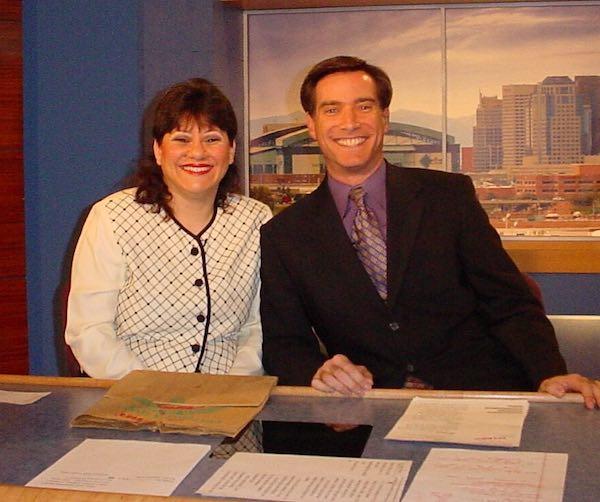 Annette Economides with Brahm Resnik on Channel 12 KPNX TV