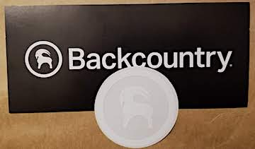 A free sticker from Backcountry.com