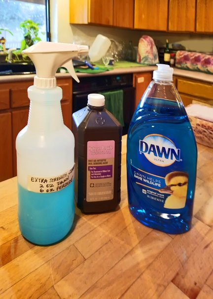 Dawn and Hydrogen Peroxide - Miracle Satin Remover for Carpets and Clothes.