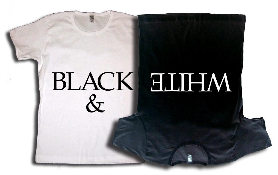 Black & White Clothing - 2 tee shirts