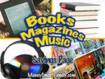 Save Money on Books, Magazines & Music!