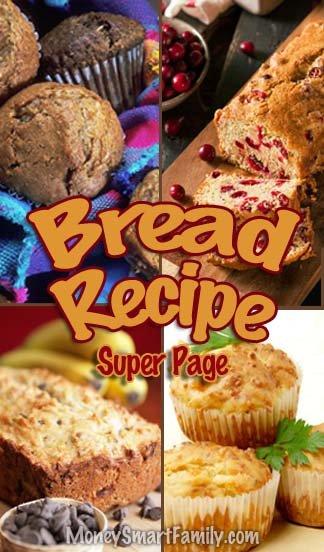 Easy Bread Recipes You will Love! #easybreadrecipes