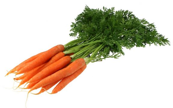 Fresh Carrots with greens