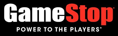 Game stop logo for trading in used cell phones.
